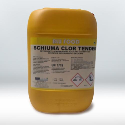 Detergente schiumogeno clorattivo per superfici delicate come alluminio