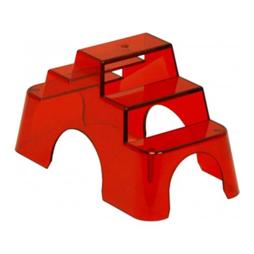 Scala in policarbonato rosso