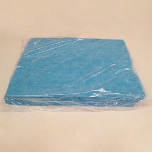 Panno TNT antibatterico riutilizzabile di colore blu per la pulizia delle superfici