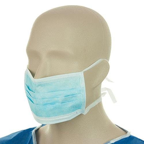 Maschera chirurgica con laccetti