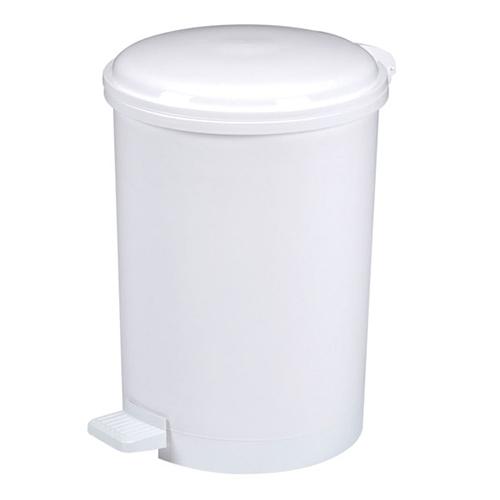 Bidoncino di plastica bianco con pedale di apertura